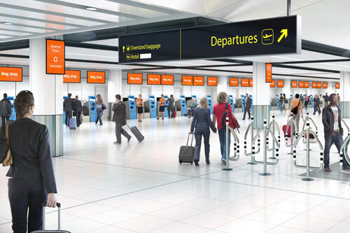 EasyJet went from 37 check-in desks at Gatwick to 28 automated kiosks.
